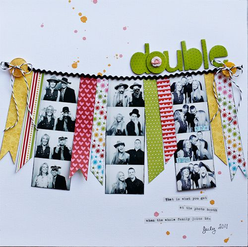GREAT way to highlight photo booth photo strips!