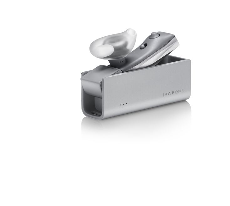ERA by Jawbone Bluetooth Headset with Charge Case - Silver Cross - Retail Packaging (Discontinued by Manufacturer)