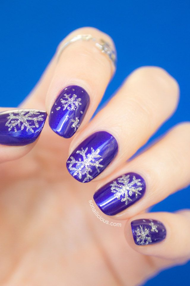 25 best ideas about snowflake nails on pinterest
