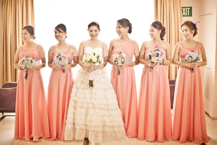 Drew and iya wedding entourage dress