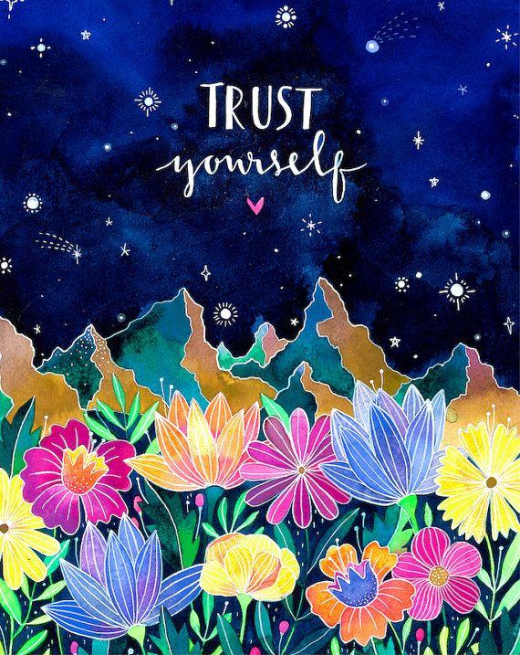 Trust Yourself  Print por anavicky en Etsy