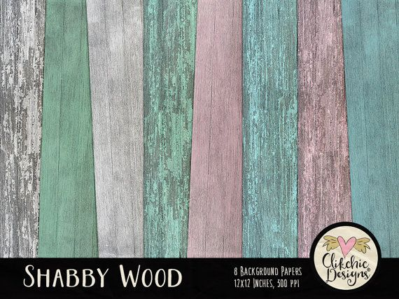 Wood Digital Paper Pack  Shabby Wood Digital by ClikchicDesign