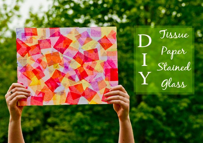 DIY Tissue Paper Stained Glass