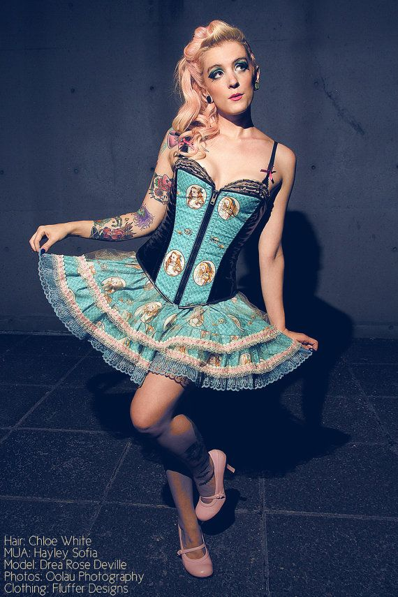 Alice Corset and Tutu Style Skirt by fluffergirl on Etsy, $225.00