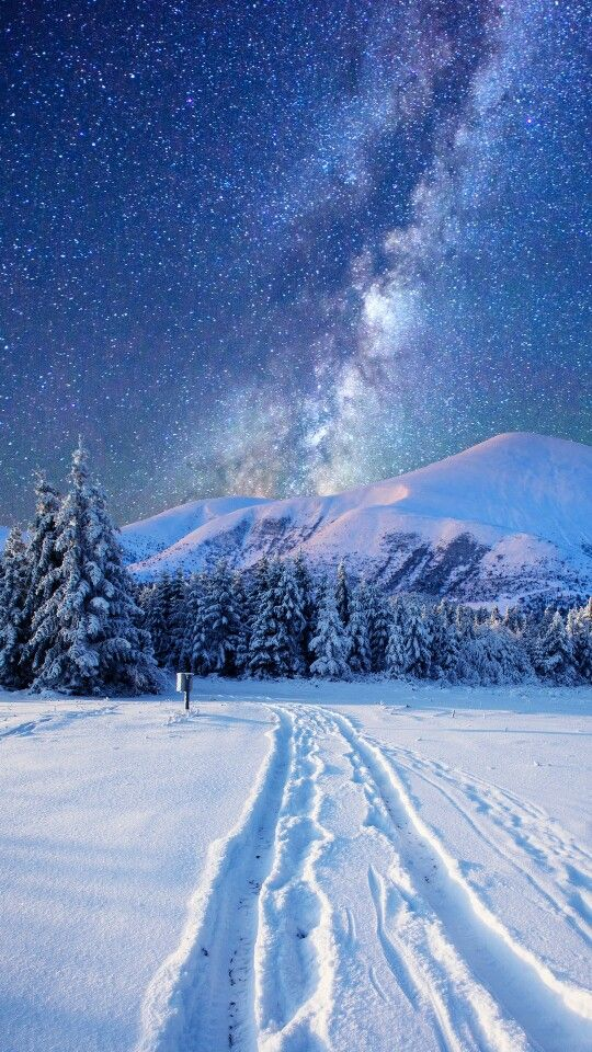 Milky Way during the winter season. Gorgeous!