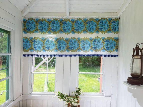 Retro Kitchen Curtains, Vintage Valance, Kids Room Curtains, Kids Room  Decor, Floral Valance, Kitchen Decor, Cottage Chic, Retro Gift