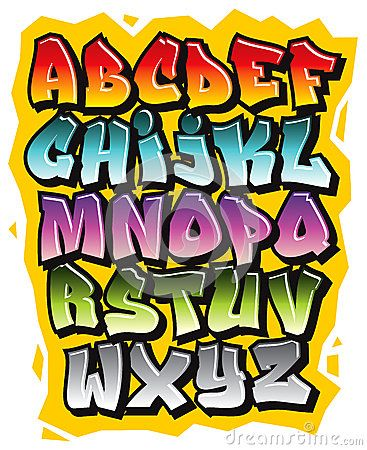 Alphabet Comique De Police De Griffonnage De Graffiti De Bande Dessinée  Vecteur\u2026