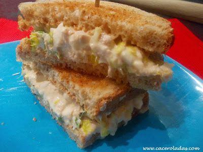 Caceroladas: Sándwich frío de pollo con huevo (ligero)