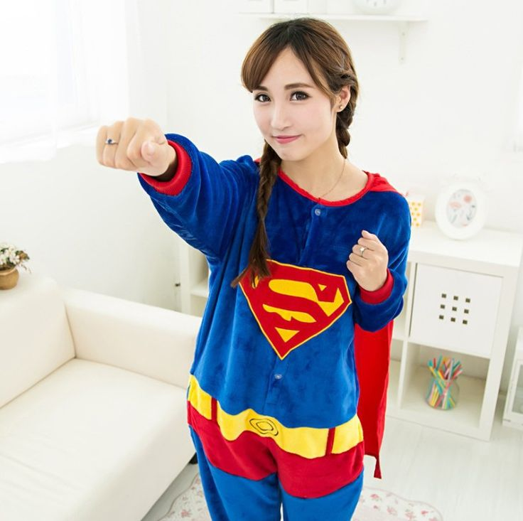 Find More Pajama Sets Information about Autumn spring winter flannel animal pajamas one piece womens superman pajamas superhero adult onesies pijama entero mujer,High Quality flannel duvet cover king,China flannel ribbon Suppliers, Cheap flannel diaper from Kibela on Aliexpress.com