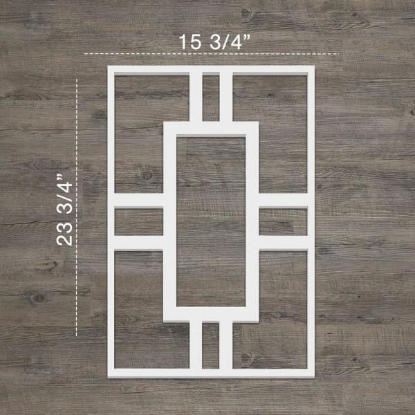 Ekena Millwork 3 8 In X 15 3 4 In X 23 3 4 In Large Hastings White Architectural Grade Pvc Decorative W Decorative Wall Panels Pvc Wall Panels Wall Paneling
