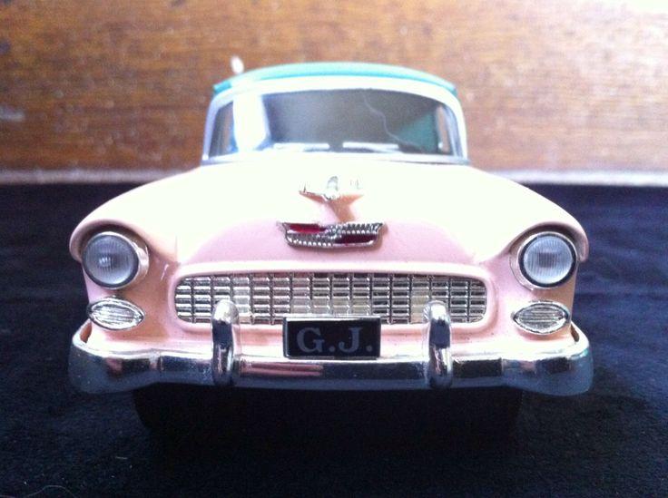 george jones die cast 1955 chevy model car bank by UndeadTrash on Etsy https://www.etsy.com/listing/158133223/george-jones-die-cast-1955-chevy-model