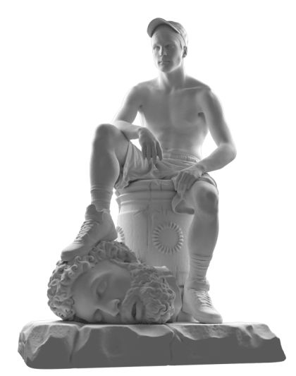 "thisisnotclothing: "" 'David and Goliath' digital statue from Collection III artwork by Jam Sutton -…"