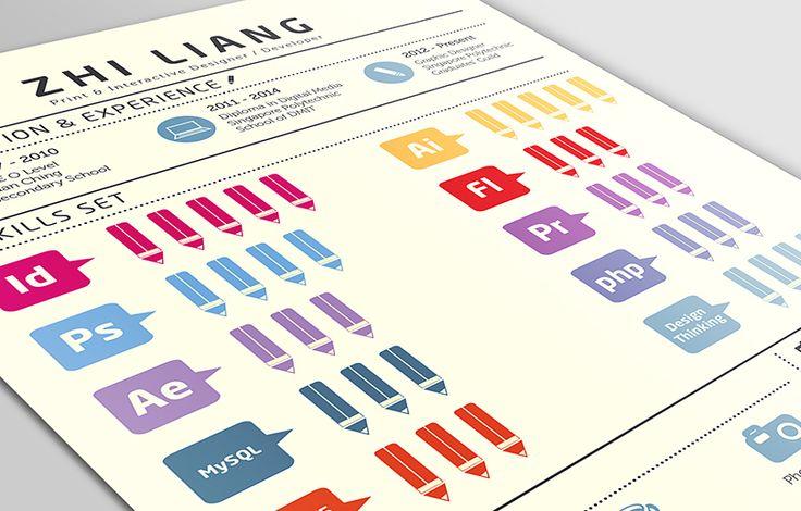 Mooi, helder en overzichtelijk CV met infographic