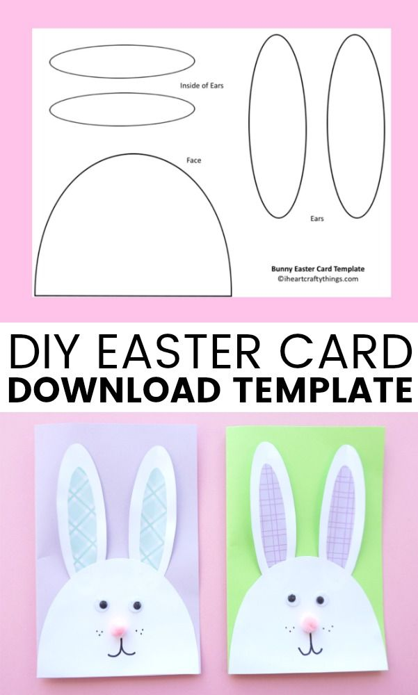 Cutest Bunny DIY Easter Card | I Heart Crafty Things