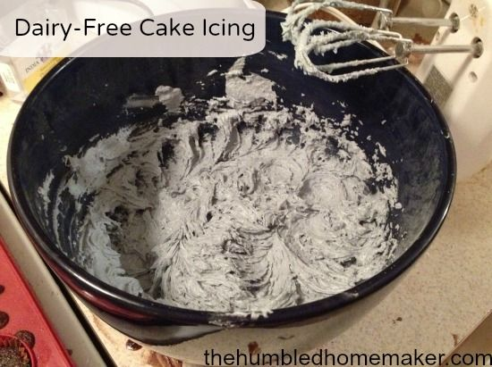 The pic doesn't do this #dairyfree icing justice! It's SOOOOO yummy and easy! It makes the perfect icing to decorate Christmas cookies! http://thehumbledhomemaker.com/2013/06/dairy-free-cake-icing.html
