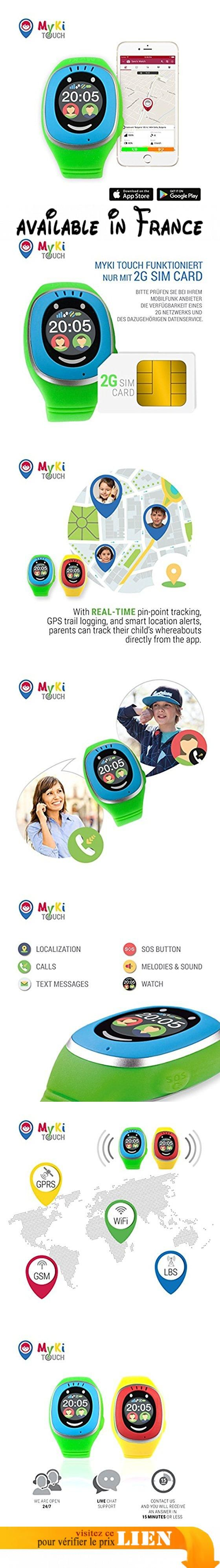 localisation GPS myki Horloge enfants, Smart Watch avec Traceur GPS, Housse, SOS et app suivi en allemand. LOCALISATION : pour une localisation même plus précise de Votre enfant, MyKi Touch fournira une fonction de localisation améliorée. Jouissez l'amélioré module GPS à 24 canaux, offrant une précision inégalée chez la localisation de Votre enfant.. ÉCRAN TACTILE - chaque menu de MyKi Touch peut être ouvert par une touche sur l'écran. Le nouvel écran couleur