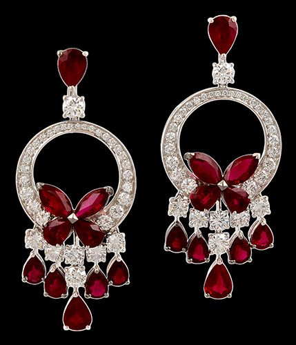 Graff Diamond & Ruby Earrings