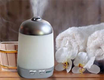 Aromatherapy Spa Vapor. Mists the air with water and essential oils (not included). $40