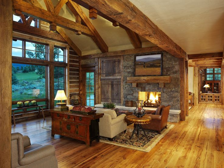 17 best images about great rustic rooms on pinterest for Rustic great room