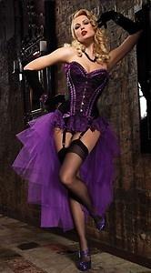 Moulin Rouge Burlesque Corset and Bustle tutu skirt.Plus Sizes 16-24 Fancy dress | eBay