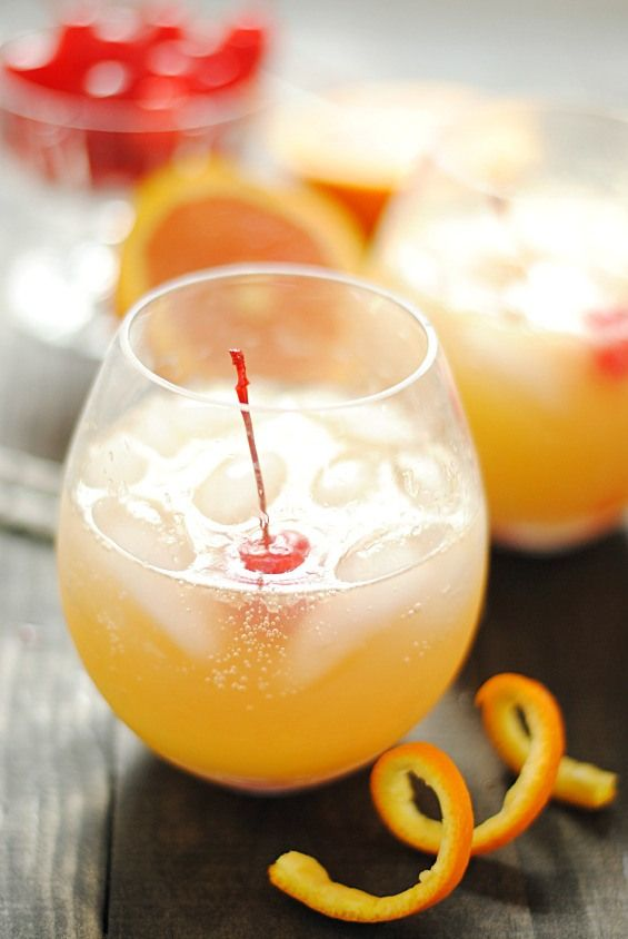 Orange Swizzle - a delicious non-alcoholic summer drink   www.somethingswanky.com
