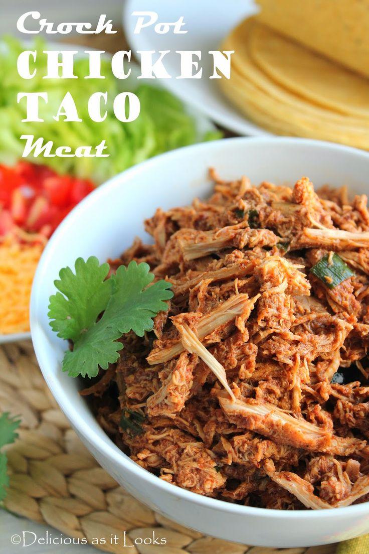 Delicious as it Looks: Crock Pot Chicken Tacos