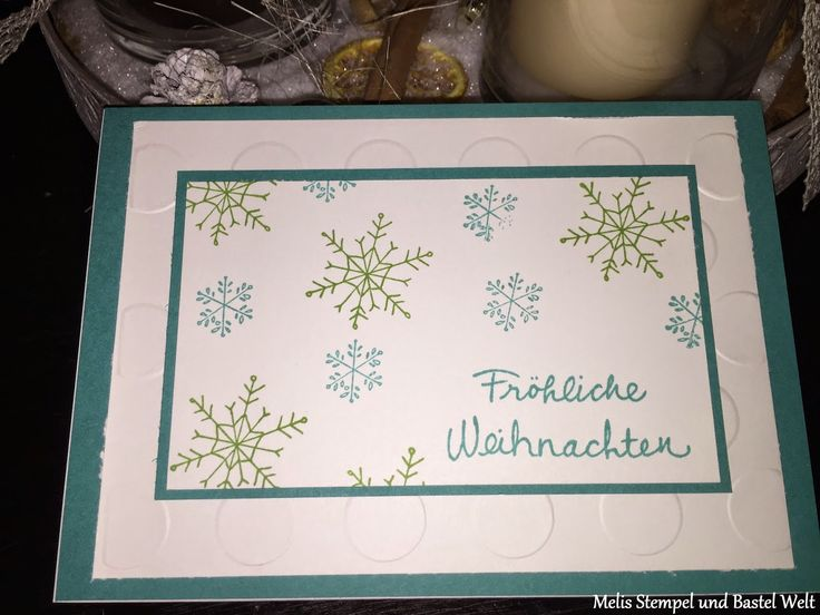 Stampin Up, Weihnachtskarte, Christmas Card, Wünsche zum Fest, Christbaum Festival, Große Punkte