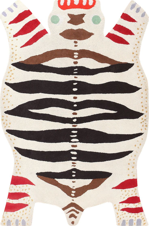 Vintage Scandinavian Tiger Rug by Artist Josef Frank 48681