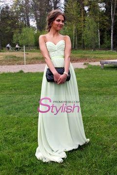 2015 Hot Selling Prom Dresses A Line Floor Length Sweetheart Chiffon $ 69.99 STPEY58KBY - StylishPromDress.com