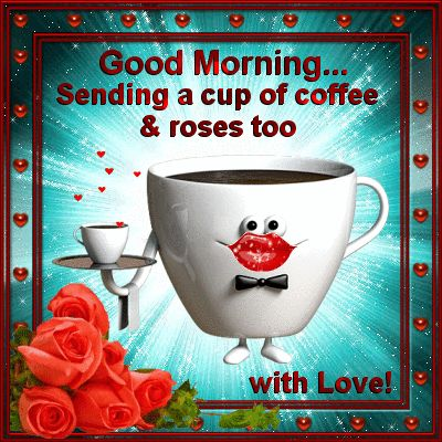 Say Good Morning to anyone with coffee, roses, kisses, and your love. Permalink : http://www.123greetings.com/general/good_morning/and_kisses_too_1.html