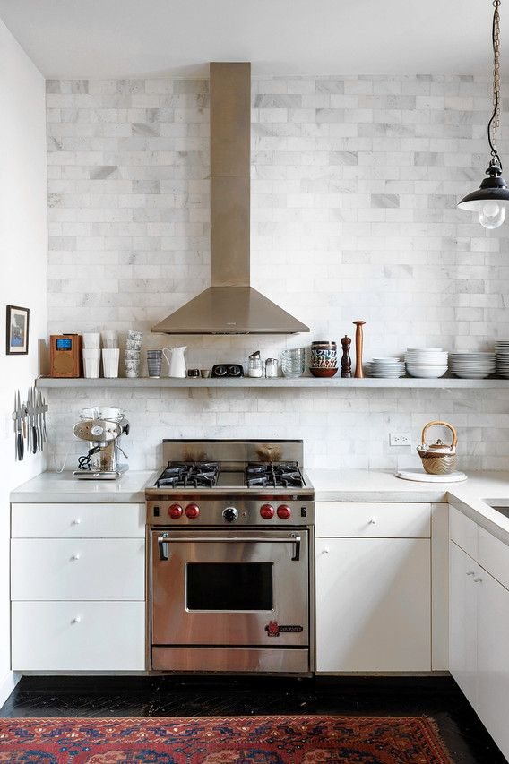 ImageDispense With Upper Cabinets | Because She Feels That U0027wall Cabinets  Make A Kitchen Feel