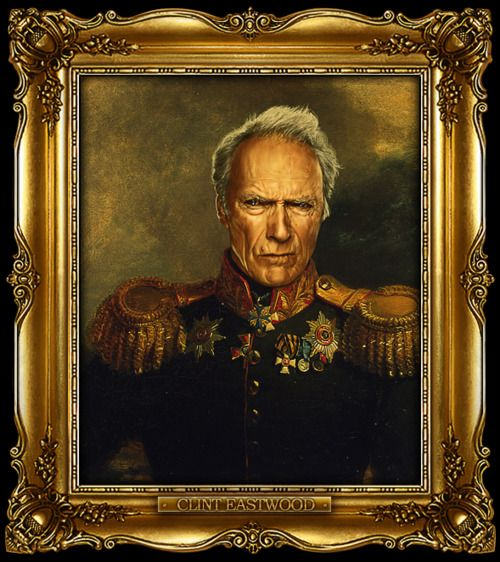 Clint Eastwood and others painted as Russian generals