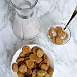 { Glutenfri, laktosefri & sukkerfri} Koldskål med veganske sprøde kammerjunker er noget af det skønneste på en varm forårsdag.Her er opskriften på de bedste glutenfrie kammerjunker, der indeholder naturlige ingrediensersamtsødet med en sundere form for sirup (se ingrediensliste....