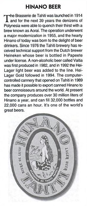 Hinano Beer - Worth its weight in gold in French Polynesia