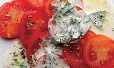 Simon Hopkinson's tomato salad with basil cream dressing: A bit retro, yes, but none the less fabulous for it.