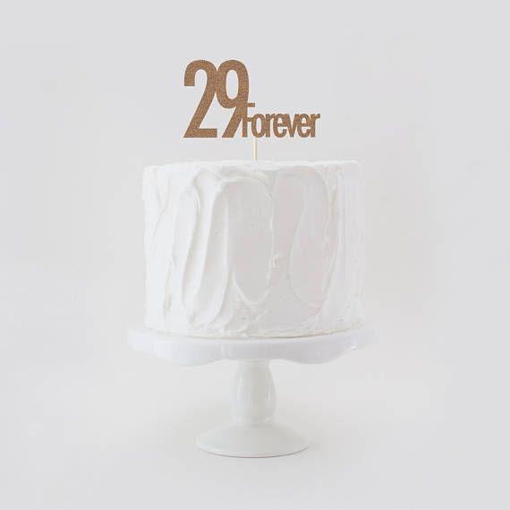 29 Forever Double Sided Glitter Birthday Cake Topper