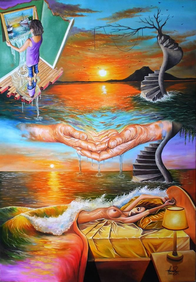 """""""In A Dream"""" - Oil on canvas - Mihai Adrian Raceanu   #art #painter #painting #surrealism"""