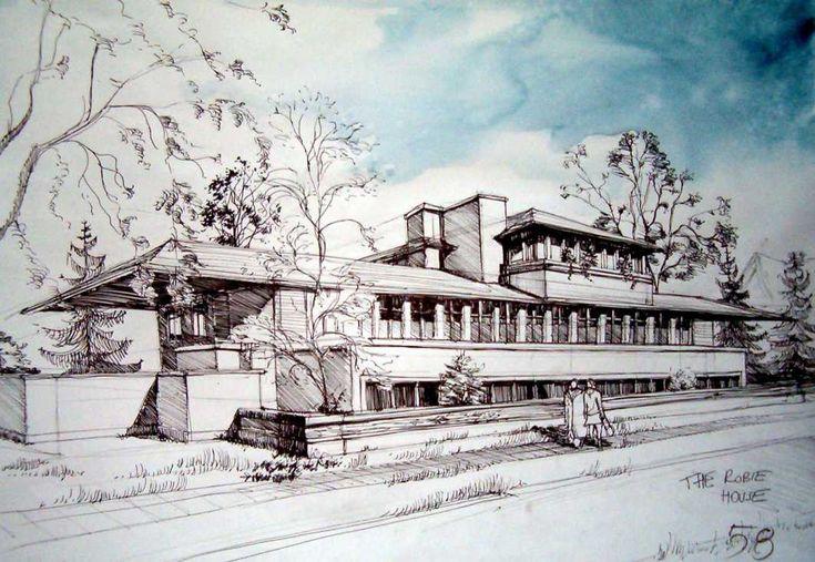 The Robie House - 90min by paczek.deviantart.com on @DeviantArt