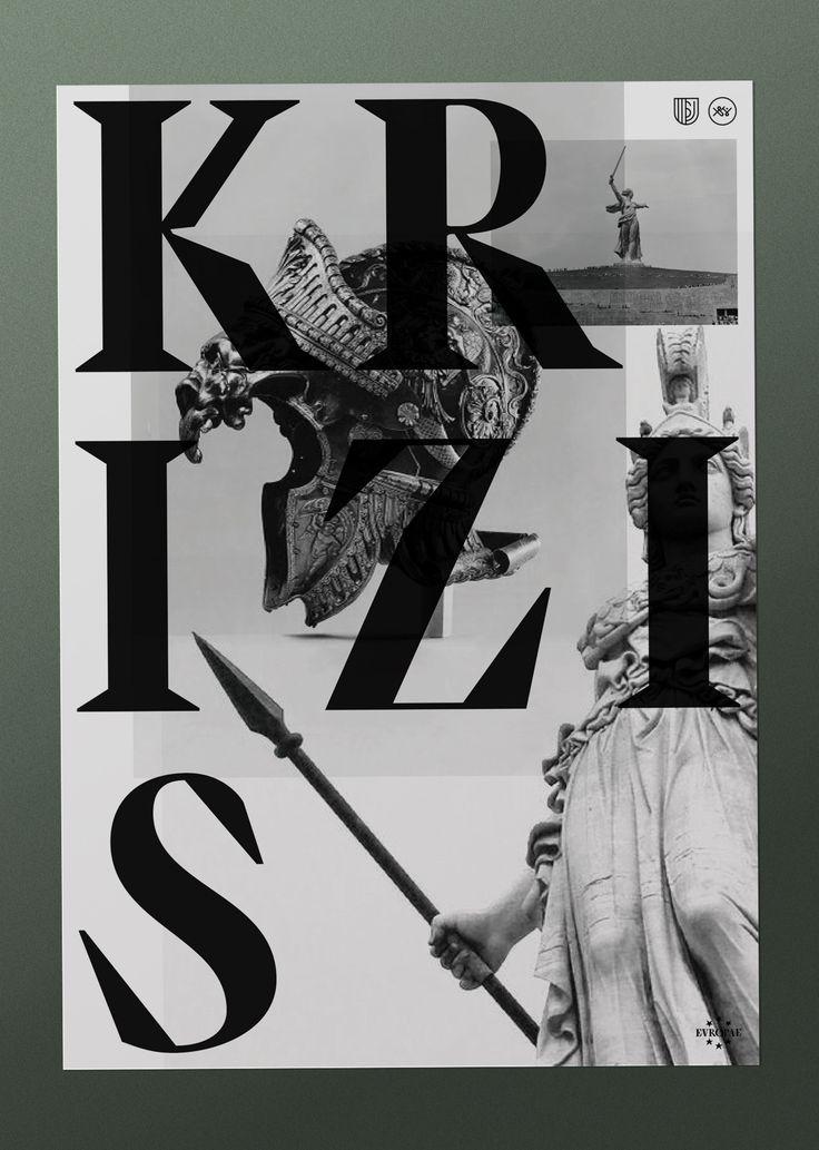 EVROPA poster 2 / 3. Typography & graphic by Studio Jimbo. 2014.