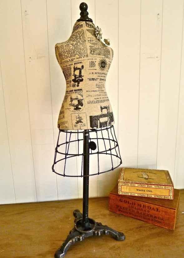 Vintage Mannequin - Whimsical Dress Form Decor  so pretty.....