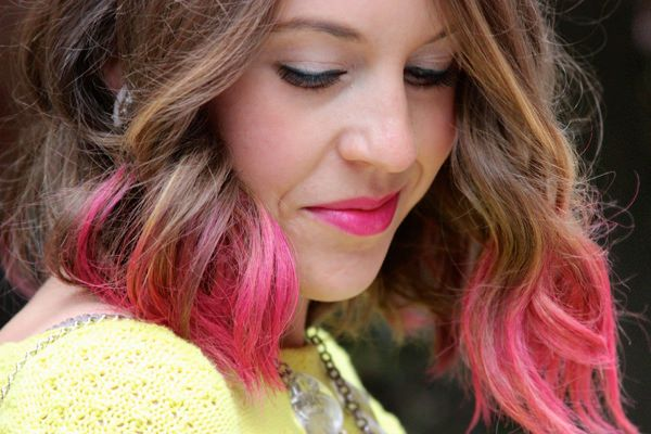 A review of Redken color rebel hair makeup in punk'd up pink