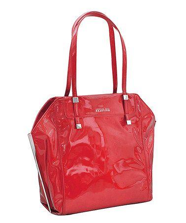 Look at this #zulilyfind! Red Stack Exchange Shoulder Bag by Kenneth Cole Reaction #zulilyfinds