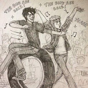 Percy Jackson/Jason Grace High School Musical!!>>>> I'm done>>> I love this way too much!!<<come on Fandom make a head cannon!!!!!