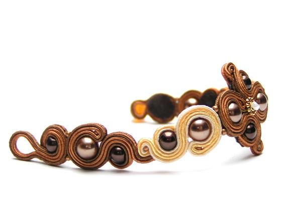 Sutasz-Anka: Cappucino - bracelet http://www.soutage.com/2012/10/cappucino-bransoletka.html#more