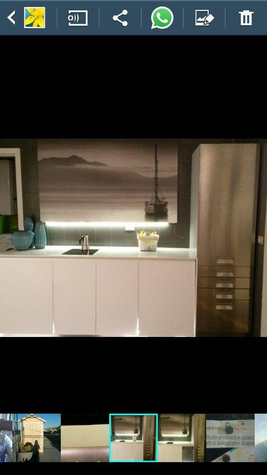 la mia nuova cucina assemblata con mobili usati