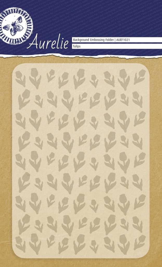 Aurelie Tulips Background Embossing Folder A6
