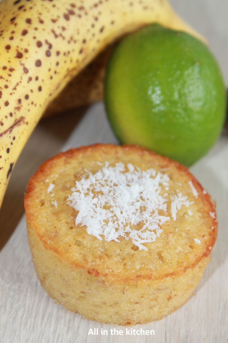Muffin banane, coco et citron vert Muffin Banana, Coconut and Lime