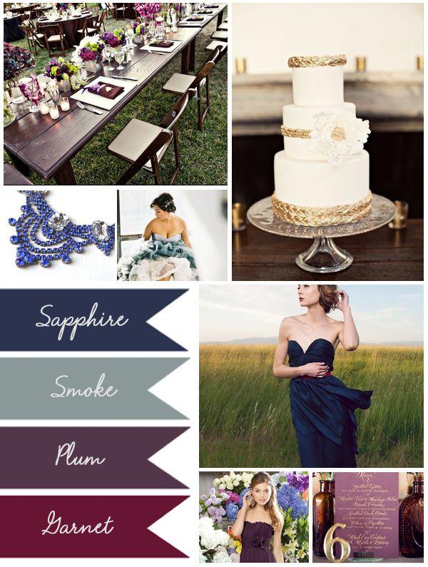 Muted Jewel Tones, Weddings, Inspiration, Wedding 101, Plum, Sapphire, Smoke, Plum My Big Day Events, Colorado Party Planning Experts http://www.mybigdaycompany.com/