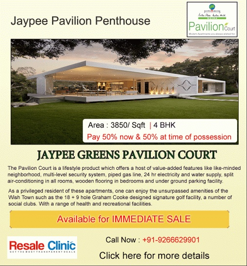 Complete with all modern amenities, #Jaypee Greens Pavilion Court apartments are fully-finished, modern, hi-efficiency apartments. #realestate #apartment