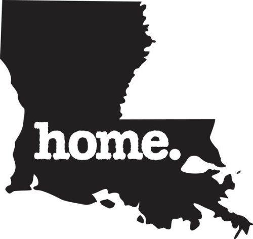 Home Louisiana State Design Vinyl Car Sticker Symbol ...